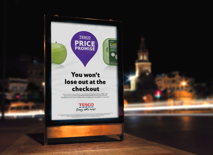 Outdoor campaign with multiple 6 sheets and bus shelter wraps
