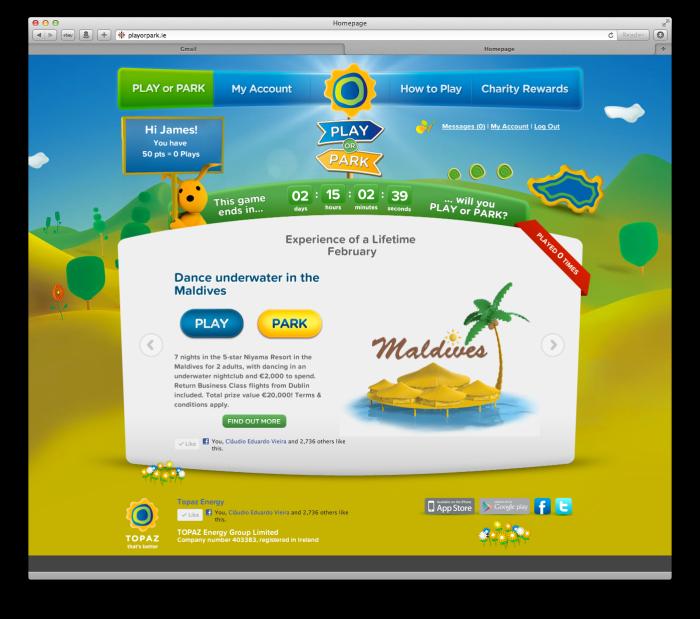 Play or Park website