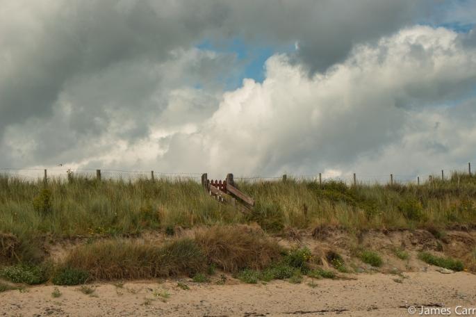 Red gate. Termonfeckin beach, Co. Louth