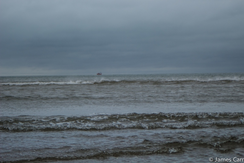 Lone fishing boat. Clogherhead, Co. Louth