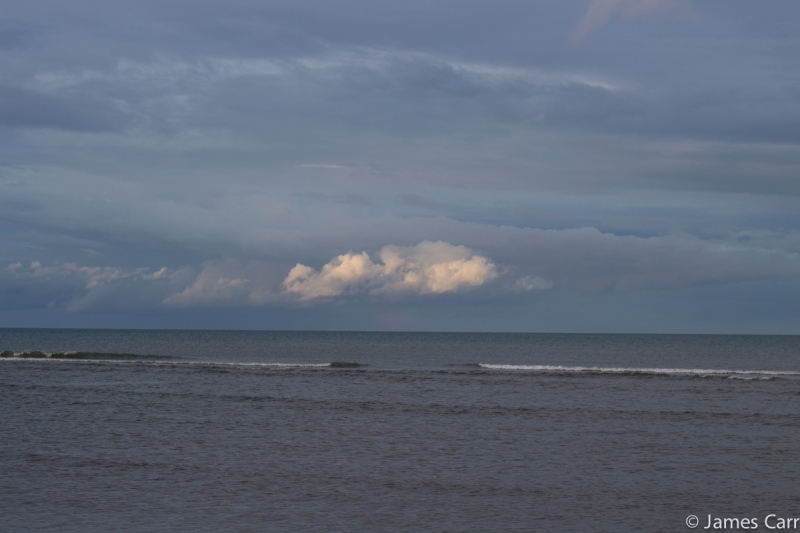 A cloud that's brighter than the rest. Clogherhead beach, Co. Louth