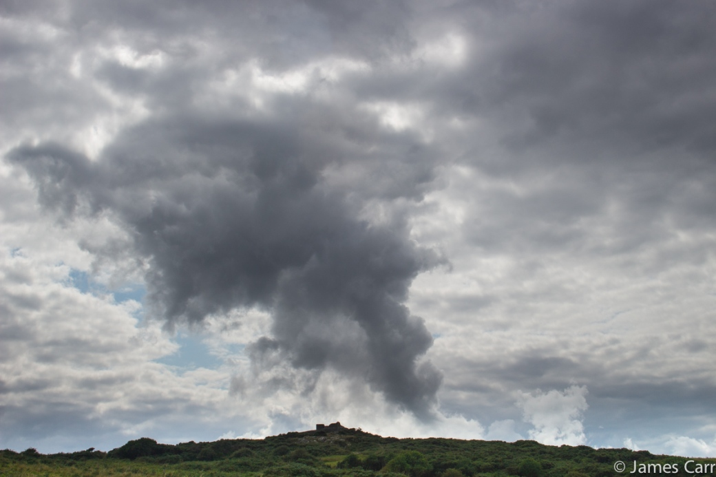 Big mad smokey looking cloud plume over Clogherhead
