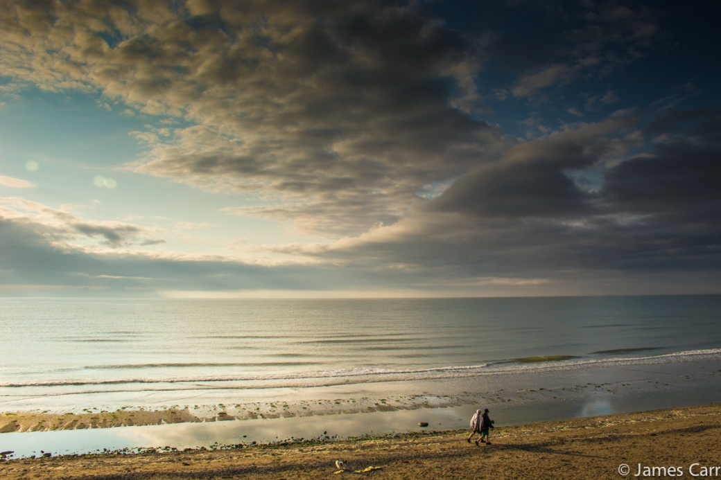Early morning walkers, Oriel Cove, Co. Louth