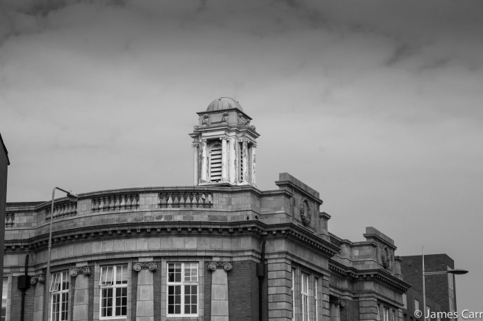 Rathmines library roof.