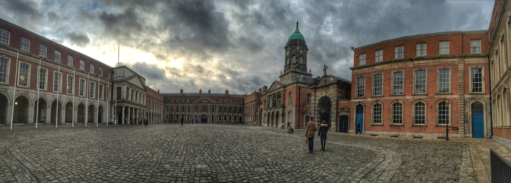 iPhone panorama of the main courtyard