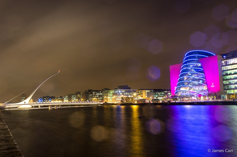 National Convention Centre and Samuel Beckett bridge, Thursday 29th January 2015