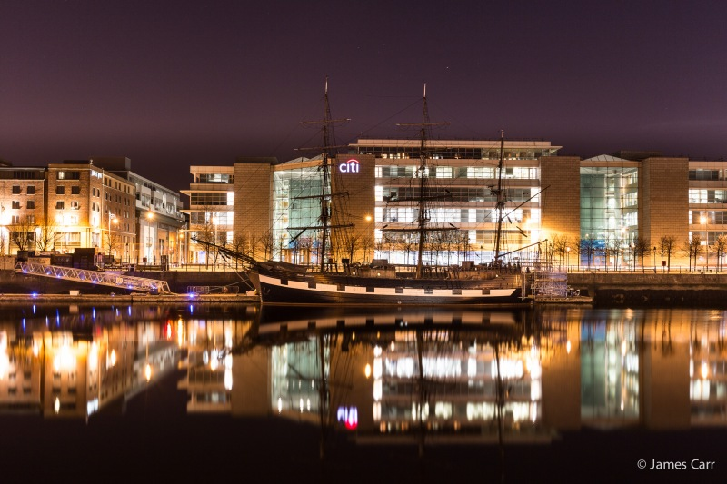 The Jeanie Johnson. Sir John Rogerson's Quay, Monday 2nd Feb 2015