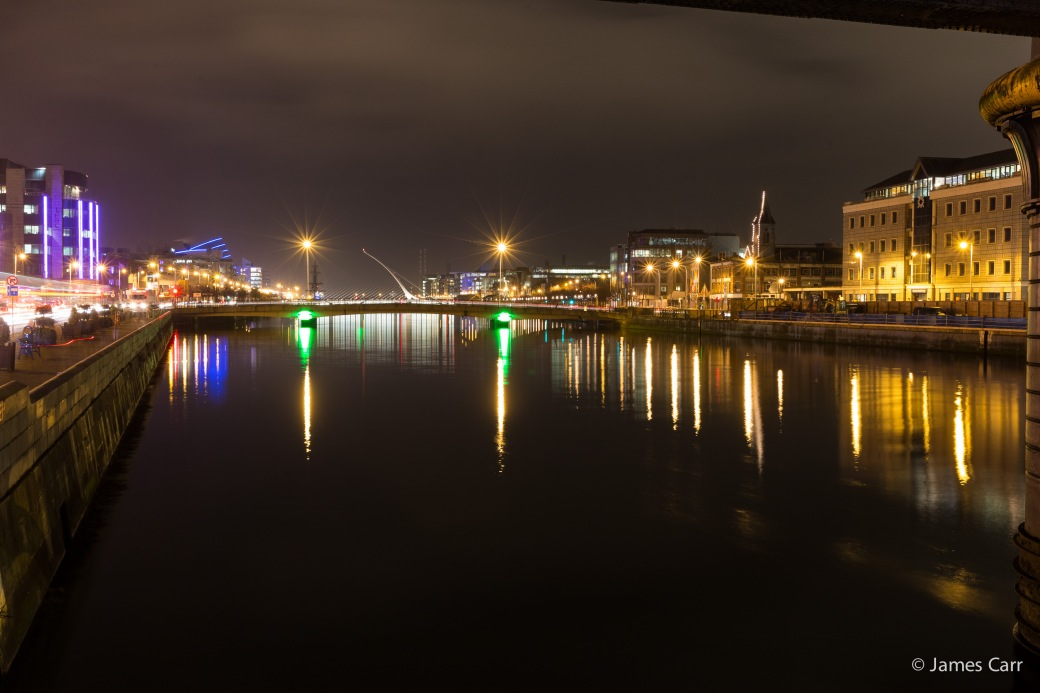 IFSC, looking down from under Butt Bridge, Friday Feb 13th 2015