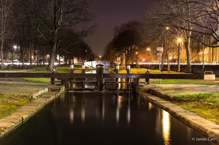 Grand Canal, near the Shchoolhouse on Northumberland Road, 17 Feb 2015