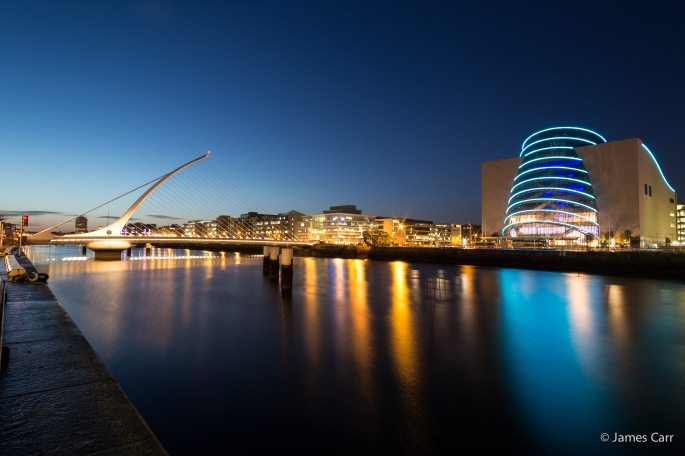 Samuel Beckett bridge and the National Convention Centre, 19 Feb 2015