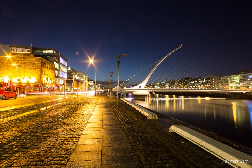 Samuel Beckett bridge, 19 Feb 2015