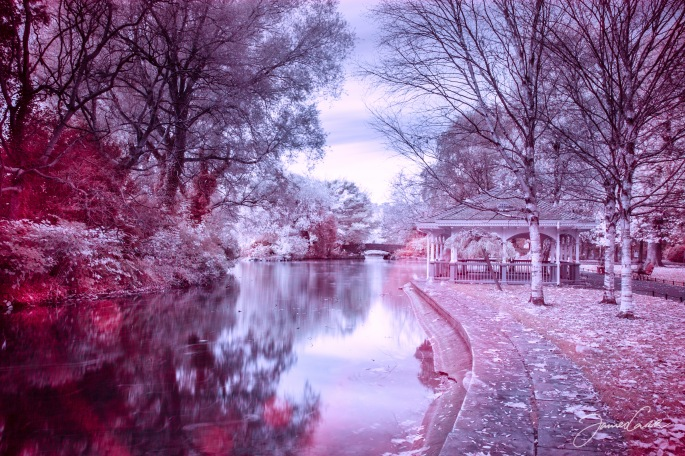 Infrared shot, taken with a two-minute exposure.