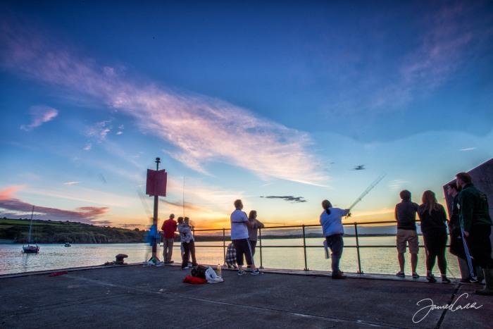 Catching sunset. Port Oriel.